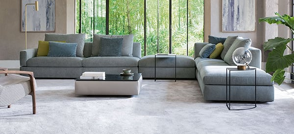 design sofa moderne sitzmobel italien, fabric & leather furniture | jori, Design ideen