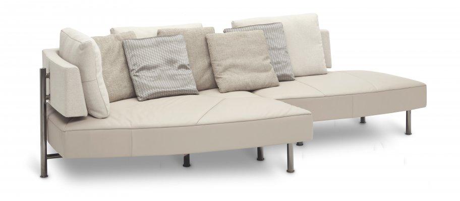 Zwart Lederen Slaapbank.Wing Open Base Sofa S Product Stoffen Lederen