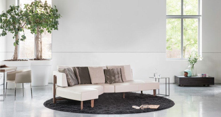 JORI | Concept WING : 1 sofa effortlessly transformable into 5 different interior experiences
