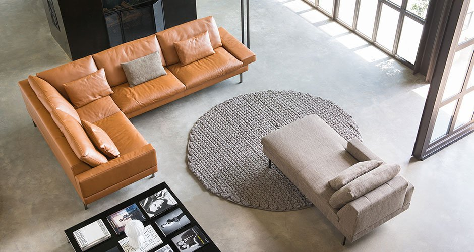 Tigra Open base  Sofas  Product  Fabric & leather
