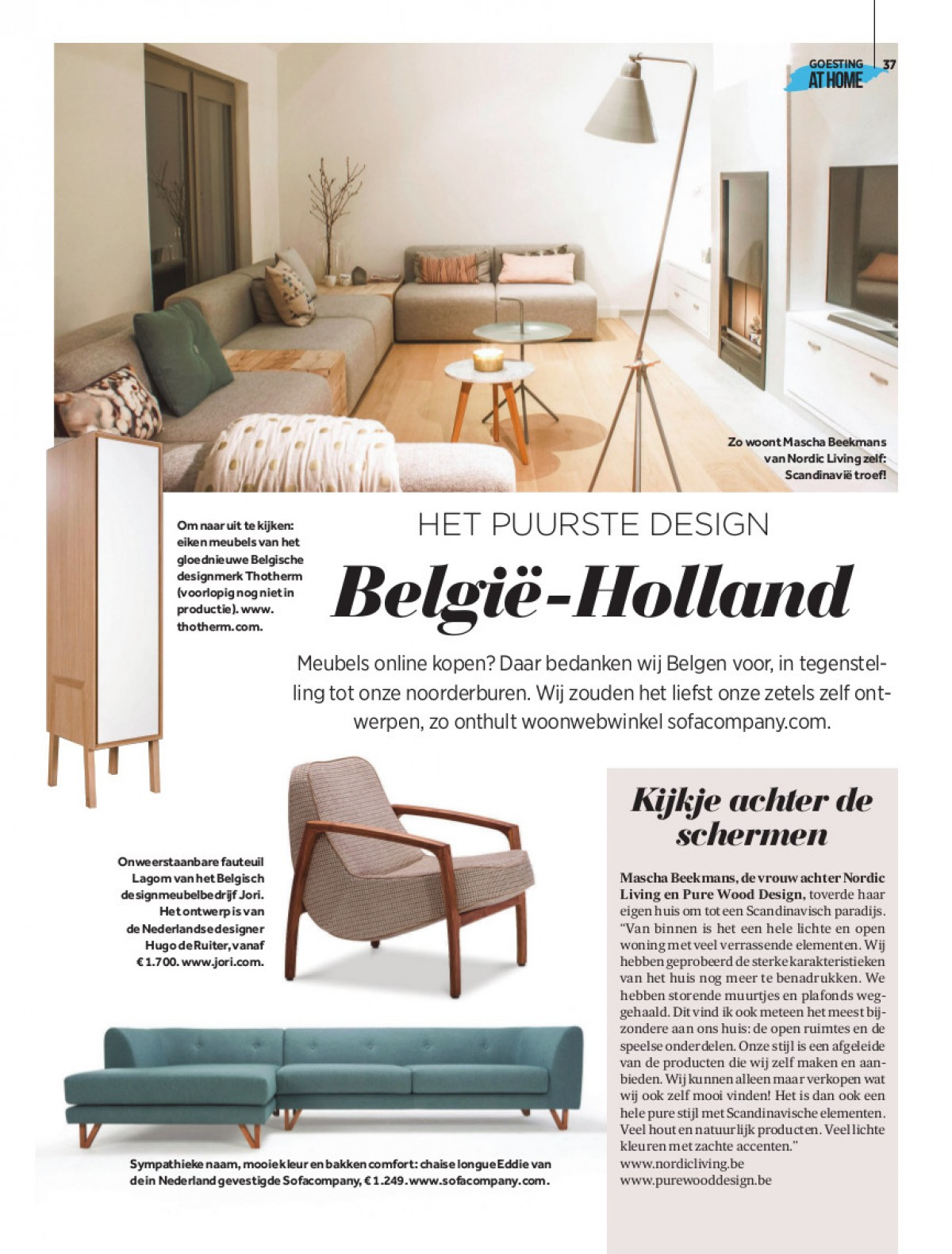 Design Fauteuil Jori.Goesting At Home Publications Design Furniture Jori